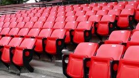 Röda tomma platser i stadion arkivfilmer