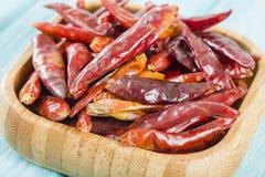 Röda torkade chili royaltyfria foton