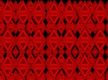 röda trianglar royaltyfri illustrationer