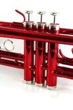 röda trumpetventiler Fotografering för Bildbyråer