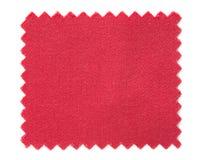 Röda tygprovkartaprövkopior som isoleras på vit Royaltyfria Foton
