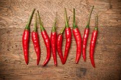 röda varma peppar Arkivbild