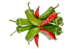 röda varma peppar för chili Royaltyfri Fotografi