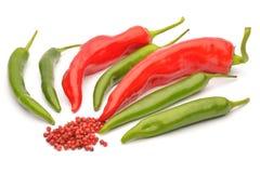 röda varma peppar för chili Arkivbilder
