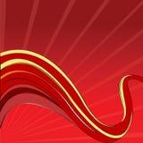 röda vektorwaves Royaltyfri Fotografi