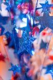 Röda, vita och blåa stjärnor Royaltyfria Bilder