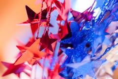 Röda, vita och blåa stjärnor Fotografering för Bildbyråer