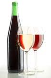 röda vita wines Royaltyfria Bilder