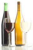 röda vita wines Royaltyfri Bild