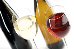 röda vita wines Arkivbild