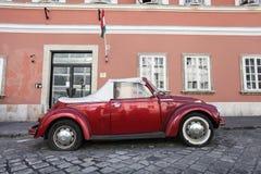 Röda Volkswagen Beetle Royaltyfri Fotografi