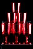 röda wineglasses Royaltyfri Fotografi