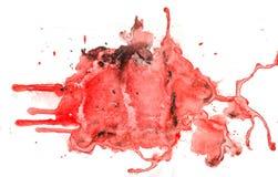 Rödaktig vattenfärgtextur Fotografering för Bildbyråer