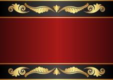 Rödbrun och svart bakgrund Royaltyfri Foto
