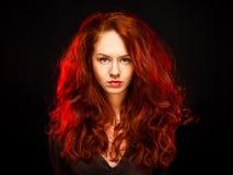 Rödhårig flicka Arkivfoton