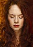 Rödhårig flicka Fotografering för Bildbyråer