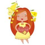Rödhårig flicka Arkivfoto