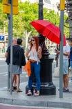 Rödhårig mankvinna arkivfoton