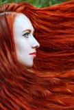 Rödhårig mankvinnastående Arkivfoton