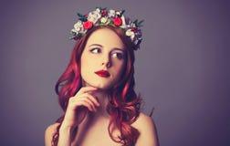 Rödhårig mankvinnor Arkivfoto