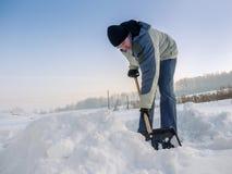 Röjning av snö Royaltyfri Bild