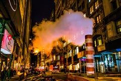 Rök över Manhattan Royaltyfria Foton