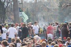rök för 420 händelse Fotografering för Bildbyråer