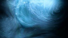 Rök för animering för blått vatten för färgpulvermolnrörelse silkeslen stock illustrationer