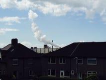 Rök från arbeten för porttalbotstål Fotografering för Bildbyråer