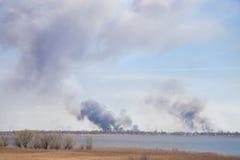 Rök från den stora branden Royaltyfri Bild