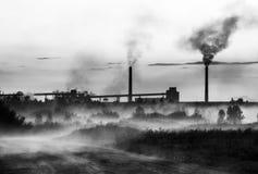 Rök från växten Fotografering för Bildbyråer