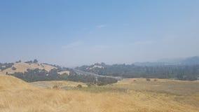Rök i den Kalifornien luften arkivfoton