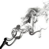 Rök isolerat mörker Arkivbild