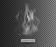 Rök med svart genomskinlig bakgrund samkopiering också vektor för coreldrawillustration rök Arkivfoto