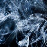 Rök på vit Arkivbilder