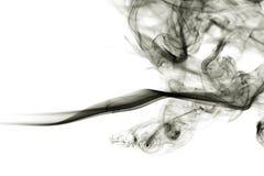 Rök på vit bakgrund Arkivfoto