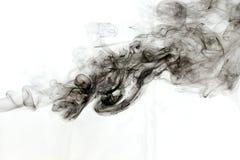 Rök på vit bakgrund Royaltyfri Bild