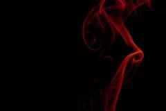 Rök som isoleras på svart bakgrund royaltyfria bilder
