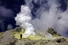 Röka berget Royaltyfri Fotografi