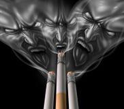 Röka cigarett vektor illustrationer