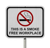 Röka det fria arbetsplatstecknet Royaltyfria Bilder