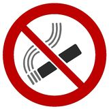 Röka förbud Arkivfoton