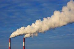 Röka från industriella lampglas Fotografering för Bildbyråer