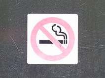 Röka inte tecknet Royaltyfria Bilder