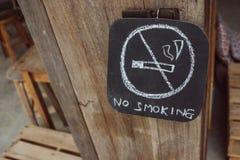 Röka inte undertecknar Royaltyfria Bilder