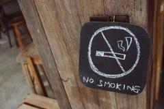 Röka inte undertecknar Royaltyfri Foto