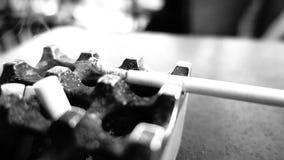 Röka och askfat som är inga - röka, fara för liv lager videofilmer