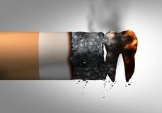 Röka och tand- hälsa royaltyfri illustrationer