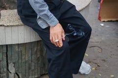Röka offentligt miljön Royaltyfria Foton