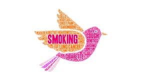 Röka ordmolnet royaltyfri illustrationer